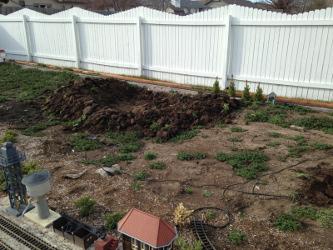 Pond being dug